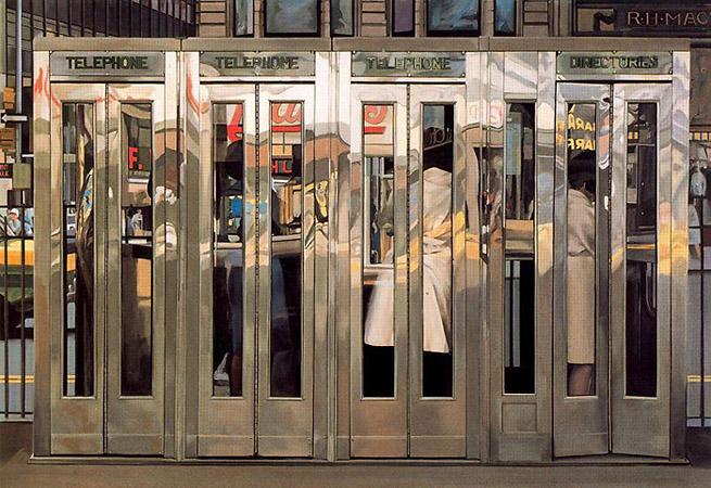 Richard Estes «Cabinas Telefonicas»