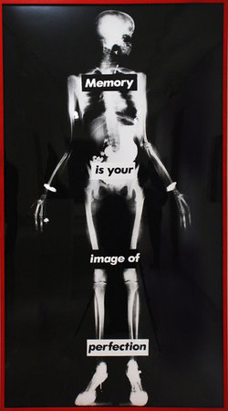 Barbara Kruger, Untitled (Memory is Your Image of Perfection), 1982, photograph, Museum purchase with proceeds from Museum of Contemporary Art San Diego Art Auction 2002, International and Contemporary Collectors Funds, and funds from Nancy B. Tieken.