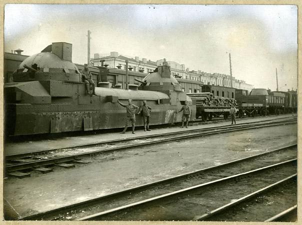 <p>Бронепоезд «Орлик». 1918г.</p>