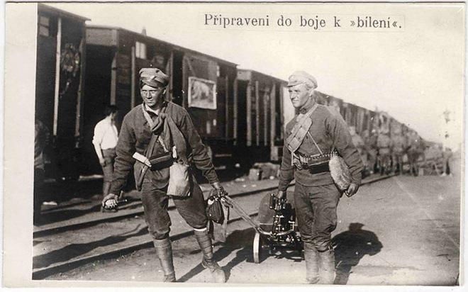<p>Чехословацкие пулеметчики готовятся кбою. 1918г.</p>