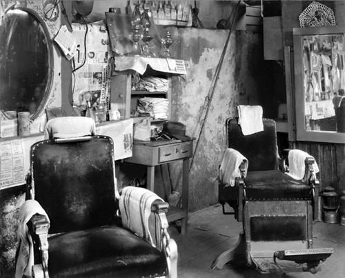 Walker Evans. Negro Barbershop Interior, Atlanta..  1936. 8 x 10 in.