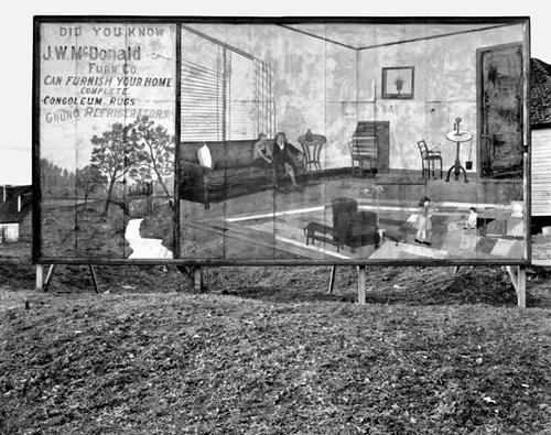 Walker Evans. Furniture store  sign near Birmingham, Alabama.  1936.  8 x 10 in.  Carbon Pigment Print.  Edition of 140
