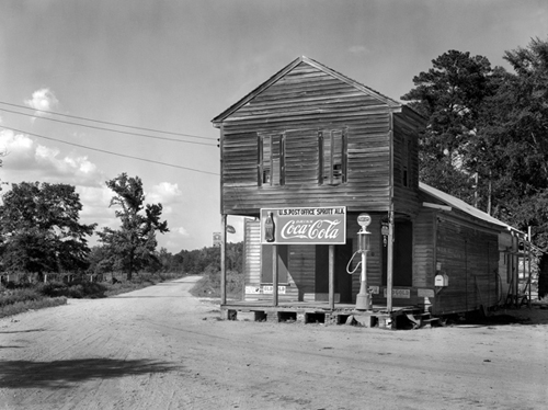 Walker Evans. Post Office,  Sprott, Alabama.  1936. 8 x 10 in.