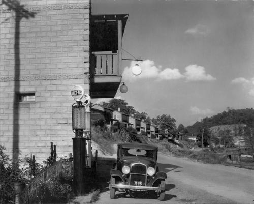 Walker Evans. Mining Town, West Virginia.  1935. 8 x 10 in.