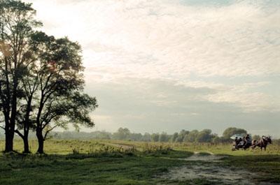 """Andrej Krementschouk """"Landschaft mit Kutsche"""" (2007) aus der Serie """"An Deinem Haus"""""""