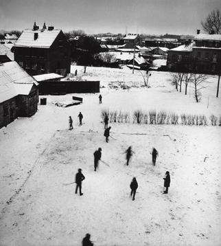 Антанас Суткус «Хоккей на льду вечером», 1971