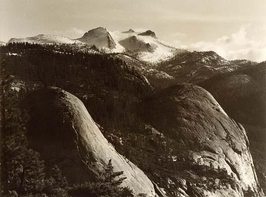 Ansel Adams.  North Dome, Basket Dome, Mount Hoffman, Yosemite. ca. 1935. Smithsonian American Art Museum. 1994.91.1