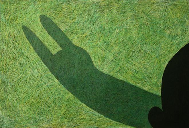 Никита Алексеев<br /> «Летние рисунки» 2005<br /> бумага, масляная пастель, 4 части, 75 х 105 см (каждая)