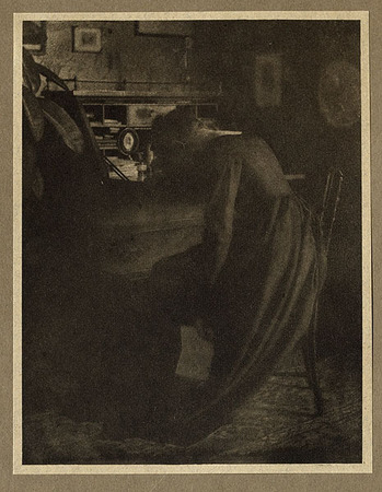 <p>The Bad News <br /> STERLING, EDMUND, b<nobr>.1861&mdash;1948</nobr><br /> Camera Notes Vol. 5&nbsp;No.&nbsp;4,&nbsp;1902<br /> 10.5&nbsp;&times;&nbsp;13.6&nbsp;cm<br /> Photogravure</p>