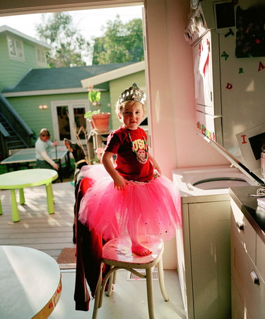 Catherine Opie. Oliver in a Tutu, 2004. Chromogenic print. 24 x 20 inches (61 x 50.8 cm). Edition 5/5. Solomon R. Guggenheim Museum, New York. Purchased with funds contributed by the Robert Mapplethorpe Foundation, 2006 © 2008 Catherine Opie. Courtesy the artist and Regen Projects, Los Angeles