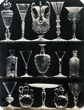 Ludwig Belitski. Venezianische und deutsche Gläser und eine orientalische Glasvase (16., 17., 18. Jh.). 1845 © Sammlung Dietmar Siegert