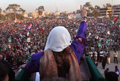 Bhutto�s Last Stand, Rawalpindi, Pakistan, 2007. Photographer: John Moore.