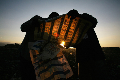Discarded Presidential Election Ballots in Haiti, 2006. Photographer: Gary Fabiano
