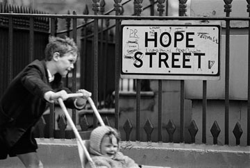 Street sign, Liverpool, 1966 Philip Jones Griffiths/Magnum Photos. 