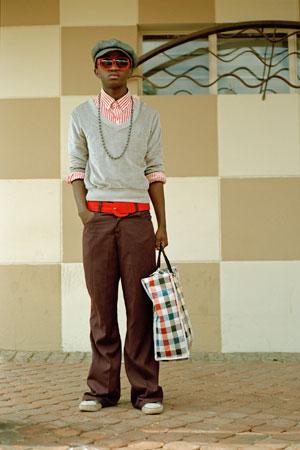 NONTSIKELELO VELEKO. Ayanda, Makhuzeni, Gugulethu, Cape Town, 2007 (Wonderland series). Pigment ink on cotton rag paper. 29 x 21 cm / 121 x 85 cm