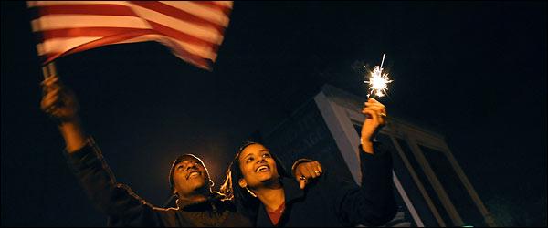 A massive turnout celebrates at 14th and U Streets. (Photo: Michael Williamson/Post)