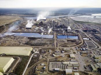 Edward Burtynsky.   Alberta Oil Sands #1. Series: Oil Fields. Digital Chromogenic Colour Print. 121 x 152 cm. 2007. Fort McMurray, Alberta