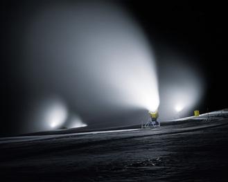 Jules Spinatsch.  Scene J3. Series: Snow Management. C-Print. 80 x 100 cm. 2004. Davos, Switzerland