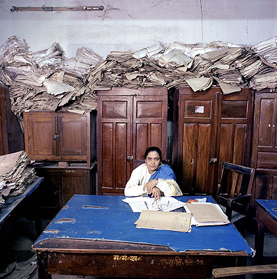 Cicero-Galerie für politische Fotografie Bureaucratics  Jan Banning: India, � Jan Banning / laif