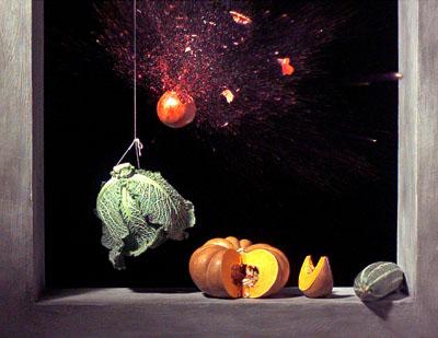 "Berlinische Galerie ""Mutations II""  Ori Gersht, Still from ""Pomegranate"", 2007, HD digital film, 3:52 min., © Ori Gersht, Courtesy: Artist and CRG Gallery, New York; Mummery + Schnelle Gallery, London; Noga Gallery, Tel Aviv; Angles Gallery Los Angeles"