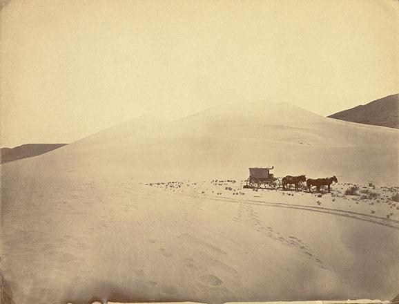 Песчаные дюны около Карсон-Синк, Невада<br>Тимоти О&#146;Салливан<br>Невада, 1867 г. Альбуминовый отпечаток