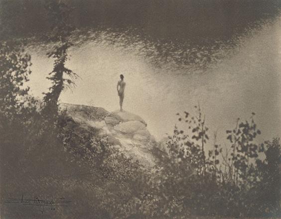 Фигура в пейзаже<br>Анна Бригмэн<br>США, 1923 г. Желатиновая галогено-серебрянная печать