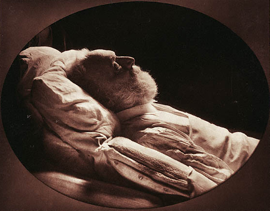 Надар<br>Виктор Гюго на смертном ложе<br>Глубокая печать с переносом (фотоглиптипия), 1885
