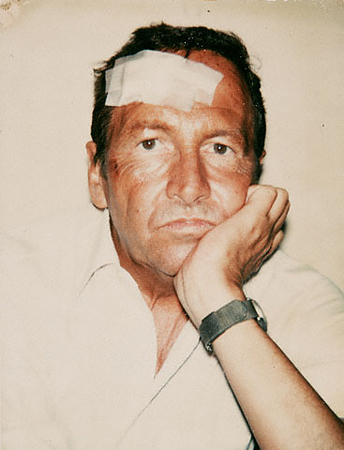 Энди Уорхол<br>Портрет Роберта Раушенберга<br>Поляроидный снимок, 1981