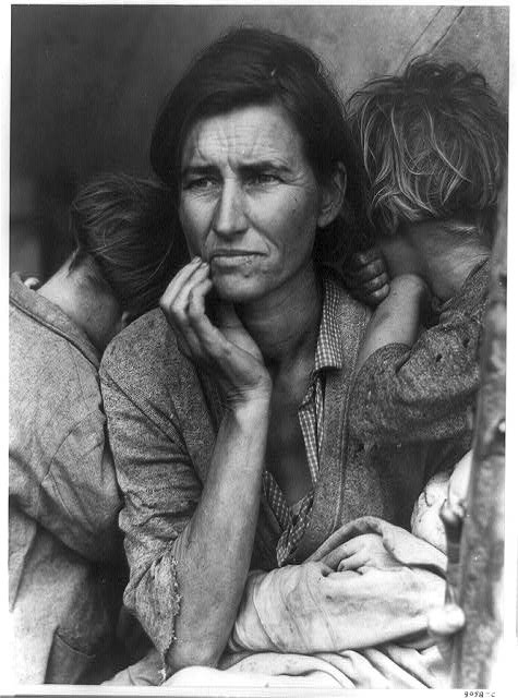 "Dorothea Lange, ""Migrant Mother"". 1936"