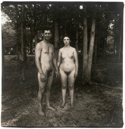Diane Arbus. A Husband and Wife in the Woods at a Nudist Camp, N.J.,