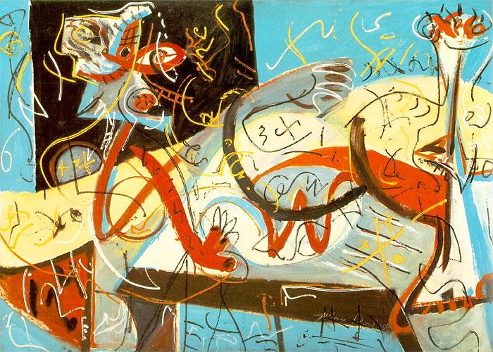 Джексон Поллок, «Стенографическая фигура». 1942