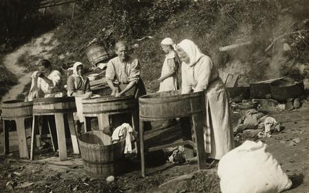 Неизвестный автор<br /> Прачки <br /> 1911 <br /> Музей «Московский Дом фотографии»