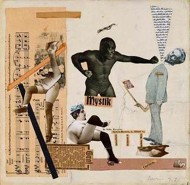 Эрвин Блюменфельд<br> Маркиз де Сад<br> Коллаж, 1921