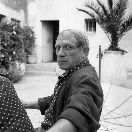 Lee Miller. Picasso, Hotel Vaste Horizon, Mougins, France, 1937