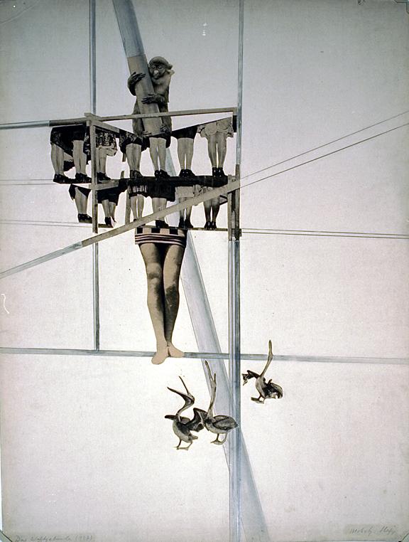 Ласло Мохой-Надь (Laszlo Moholy-Nagy) Das Veltgebaude, 1927 photomechanical reproduction with applied markings, 64.9 x 49.2 cm.