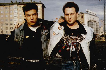 Эд и Рус на съемках для немецкого журнала «Blinkt Punkt». Москва 1987<br> Фото Петры Галл