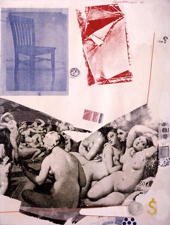 Р. Раушенберг. Турецкие бани Энгра. 1967