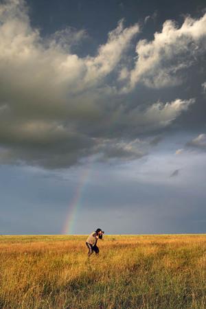 2007(С)photo by D.Gordienko    Петрович, похожий на паучка, снимает пейзаж