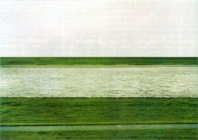 Андреас Гурский.  Рейн, 1999, 205х355см