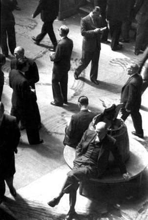 Анри-Картье Брессон. Лондонская фондовая биржа, 1955