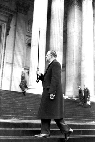 Анри-Картье Брессон. Похороны Черчилля, 1955