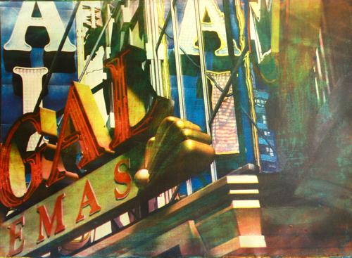 Буквы. Нью-Йорк, 2009<br> Многоцветная гуммиарабиковая печать