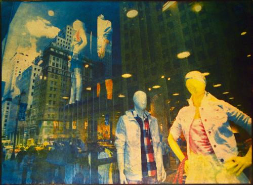 Отражения. Нью-Йорк, 2009<br> Многоцветная гуммиарабиковая печать