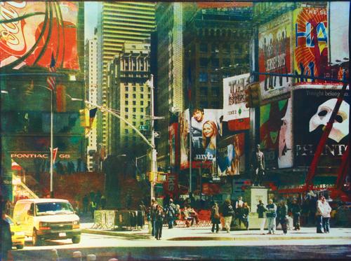 Таймс-Сквер. Нью-Йорк, 2009<br> Многоцветная гуммиарабиковая печать