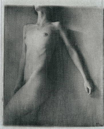 Yurij Kovalchyk<br /> From series «Smell of woman»<br /> Silver gelatin manual pint (emulsiography), 32,5x23, author's property