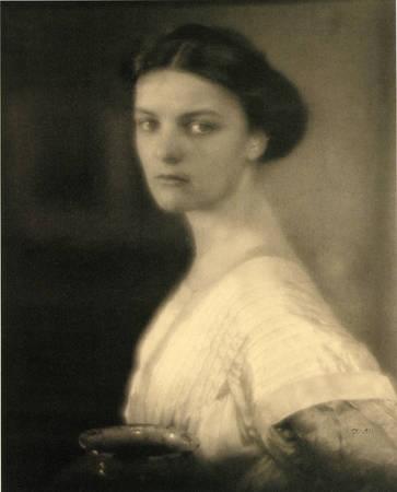 """Edward Steichen. """"Agnes Ernst"""".1908. Platinum print"""
