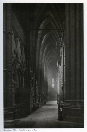 "Frederick Henry Evans. ""Westminster Abbey: South Nave Aisle to West"".1912. Platinum print"