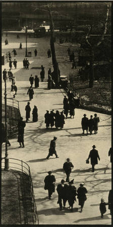 "Paul Strand. ""City Hall Park, New York"". 1915. Platinum print"