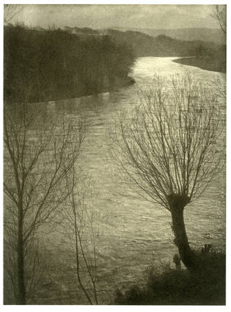 "Paul Strand. ""River Neckar, Gemany"" 1911. Platinum print"
