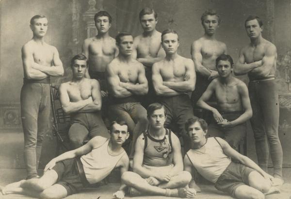 Курсы физкультурных организаторов<br> Ярославль, фотограф М.Бобров, 1920
